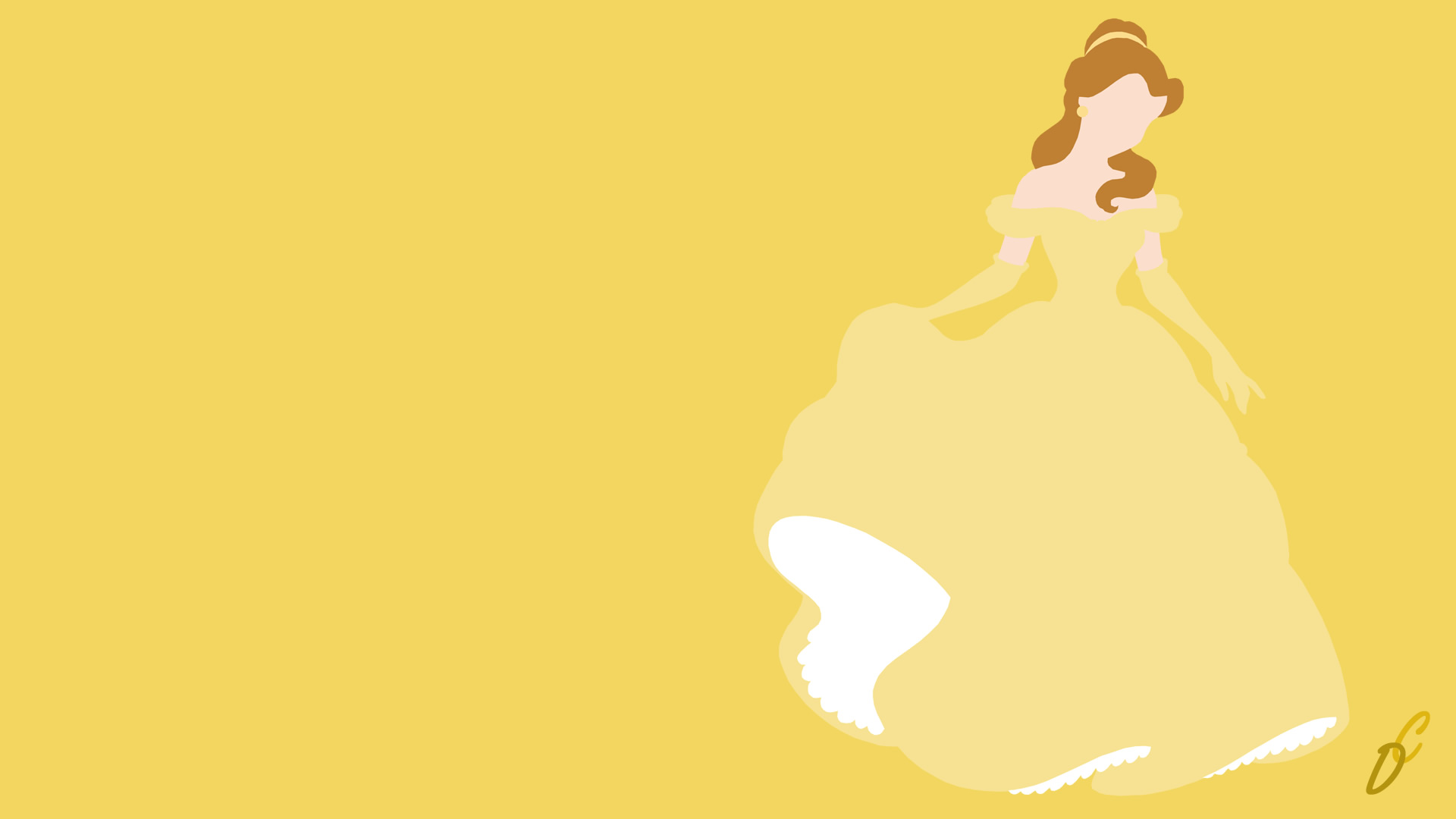 Wallpaper disney princess belle wallpaper sportstle for Minimalist homepage